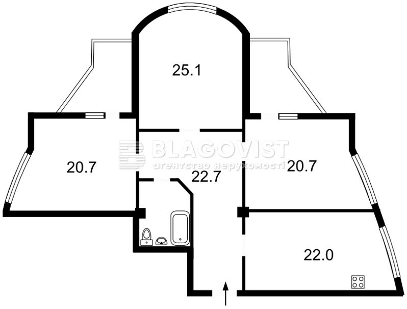 Квартира Z-1594157, Черняховского, 11г, Бровары - Фото 2