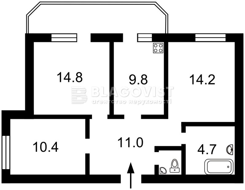 Квартира F-23980, Харченко Евгения (Ленина), 47б, Киев - Фото 5