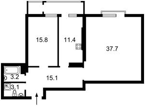 Квартира Коновальца Евгения (Щорса), 44а, Киев, R-7073 - Фото2