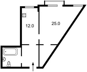 Квартира Коновальца Евгения (Щорса), 44а, Киев, M-31561 - Фото2
