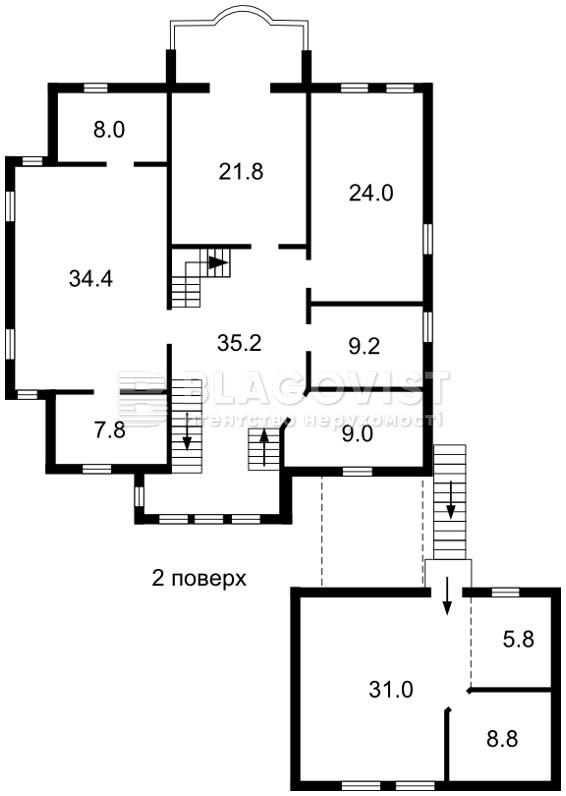 Дом H-39449, Житомирская, Петропавловская Борщаговка - Фото 5