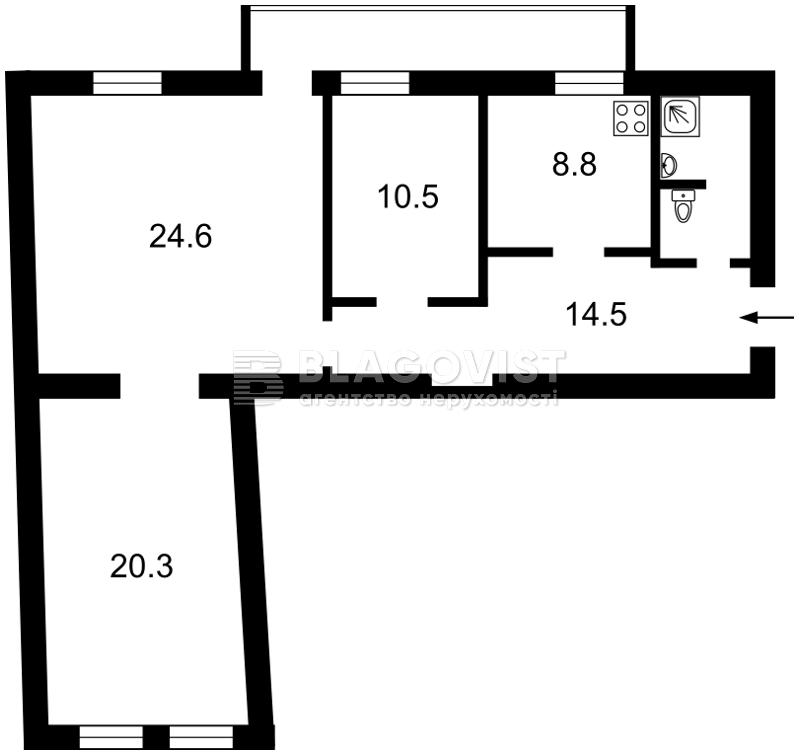 Квартира D-32557, Малая Житомирская, 5, Киев - Фото 2