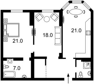 Квартира Полтавская, 10, Киев, Z-244286 - Фото2