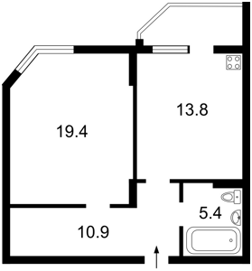 Квартира Вильямса Академика, 3/7, Киев, R-7269 - Фото2