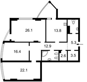 Квартира Глубочицкая, 32а, Киев, F-37922 - Фото2