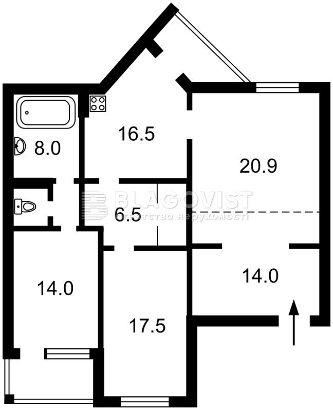 Квартира C-104005, Тургеневская, 50, Ирпень - Фото 3