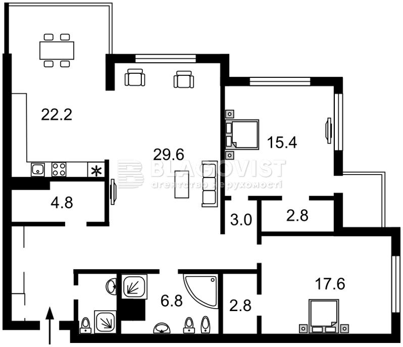 Квартира C-104037, Драгомирова Михаила, 15, Киев - Фото 5