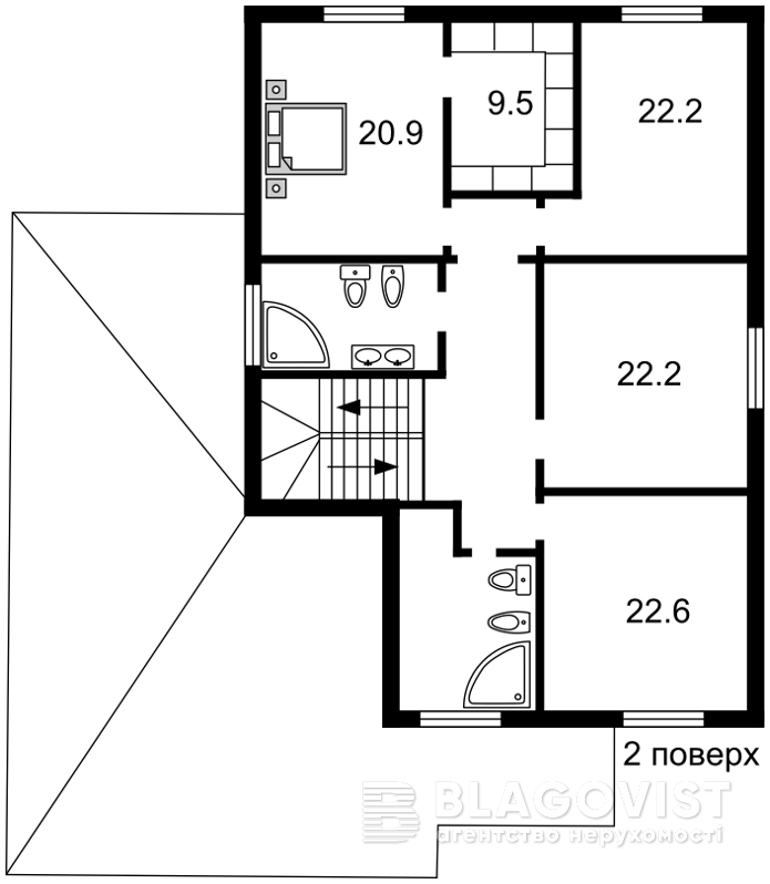 Дом R-7459, Ходосовка - Фото 3