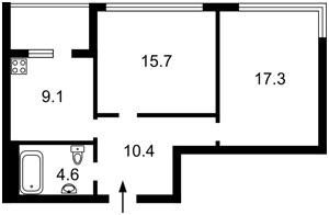 Квартира Заречная, 1б, Киев, Z-74677 - Фото2