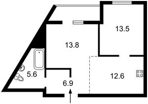 Квартира Глушкова Академика просп., 9д, Киев, C-104078 - Фото 2