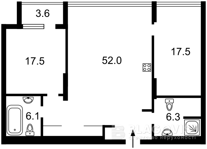 Квартира F-38122, Коновальца Евгения (Щорса), 44а, Киев - Фото 6