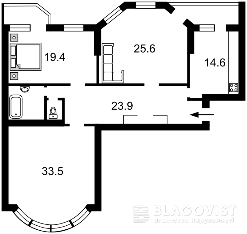 Квартира H-39792, Никольско-Слободская, 4Д, Киев - Фото 9