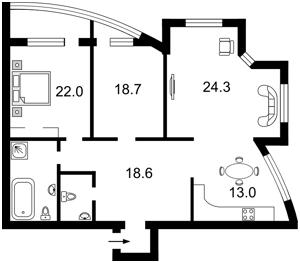 Квартира Героев Сталинграда просп., 4а, Киев, R-8765 - Фото2