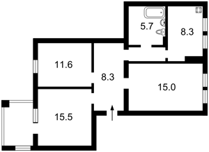 Квартира P-22307, Мазепы Ивана (Январского Восстания), 14, Киев - Фото 5