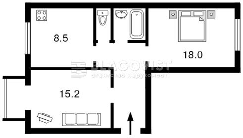 Квартира F-11331, Бойчука Михаила (Киквидзе), 4, Киев - Фото 7